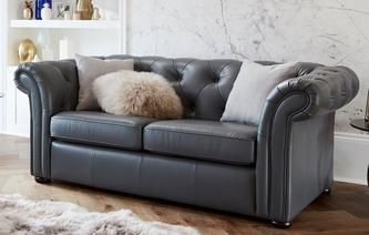 Ashby Leather 2 Seater Sofa Bed Brooke
