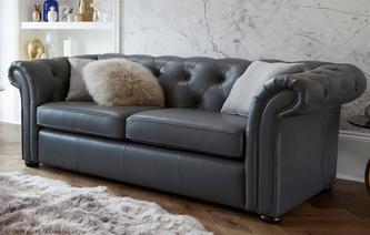 Ashby Leather 3 Seater Sofa Brooke