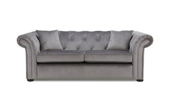 Velvet 3 Seater Sofa Abbey Velvet