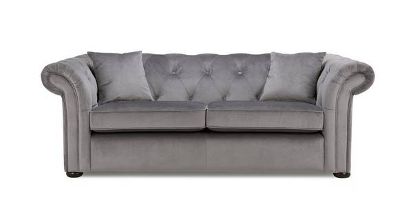 Ashby Velvet 3 Seater Sofa