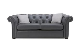 Leather 3 Seater Sofa Bed Brooke