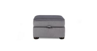 Ashby Velvet Storage Footstool