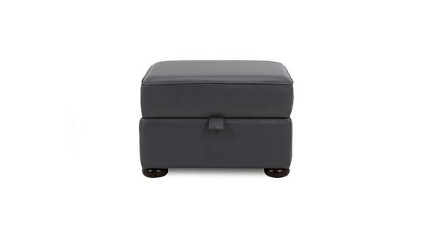 Ashby Leather Storage Footstool