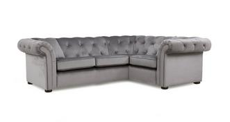 Ashby Velvet Left Hand Facing 2 Seater Corner Sofa
