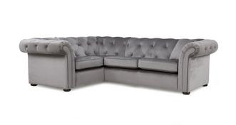 Ashby Velvet Right Hand Facing 2 Seater Corner Sofa