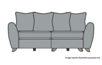 Pillow Back 3 Seater Lounger Sofa