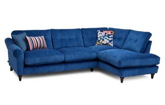 Cord Left Hand Facing Arm Open End Corner Sofa