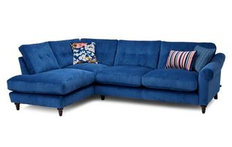 Cord Right Hand Facing Arm Open End Corner Sofa