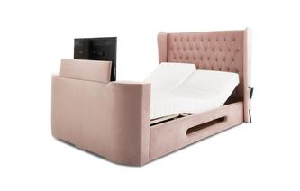 King Size TV Adjustable Bedframe With Dreamatic Mattress