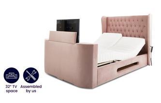 King Size TV Adjustable Bedframe With Viscomatic Mattress