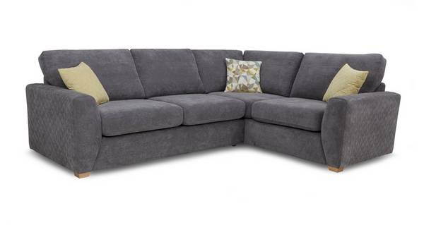 Astaire Left Hand Facing Arm 2 Seater Corner Sofa