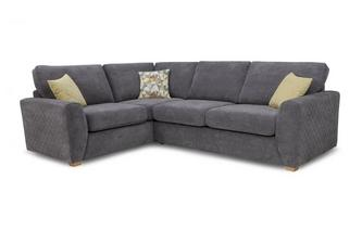 Right Hand Facing Arm 2 Seater Corner Sofa Sherbet