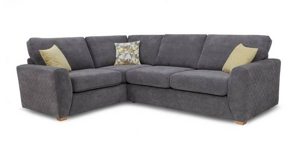 Astaire Right Hand Facing Arm 2 Seater Corner Sofa
