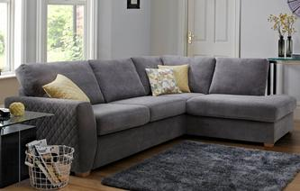 Astaire Left Hand Facing Arm Open End Corner Sofa Sherbet