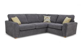 Left Hand Facing Arm Corner Deluxe Sofa Bed Sherbet