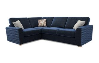 Astaire Right Hand Facing Arm Corner Deluxe Sofa Bed Sherbet