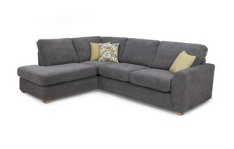 Right Hand Facing Arm Open End Corner Deluxe Sofa Bed Sherbet