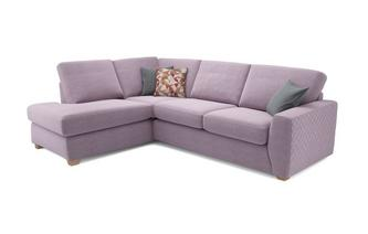 Astaire Right Hand Facing Arm Open End Corner Deluxe Sofa Bed Sherbet