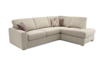 Astaire Left Hand Facing Arm Open End Corner Deluxe Sofa Bed Sherbet
