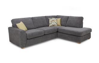 Left Hand Facing Arm Open End Corner Deluxe Sofa Bed