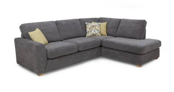 Astaire Left Hand Facing Arm Open End Corner Deluxe Sofa Bed
