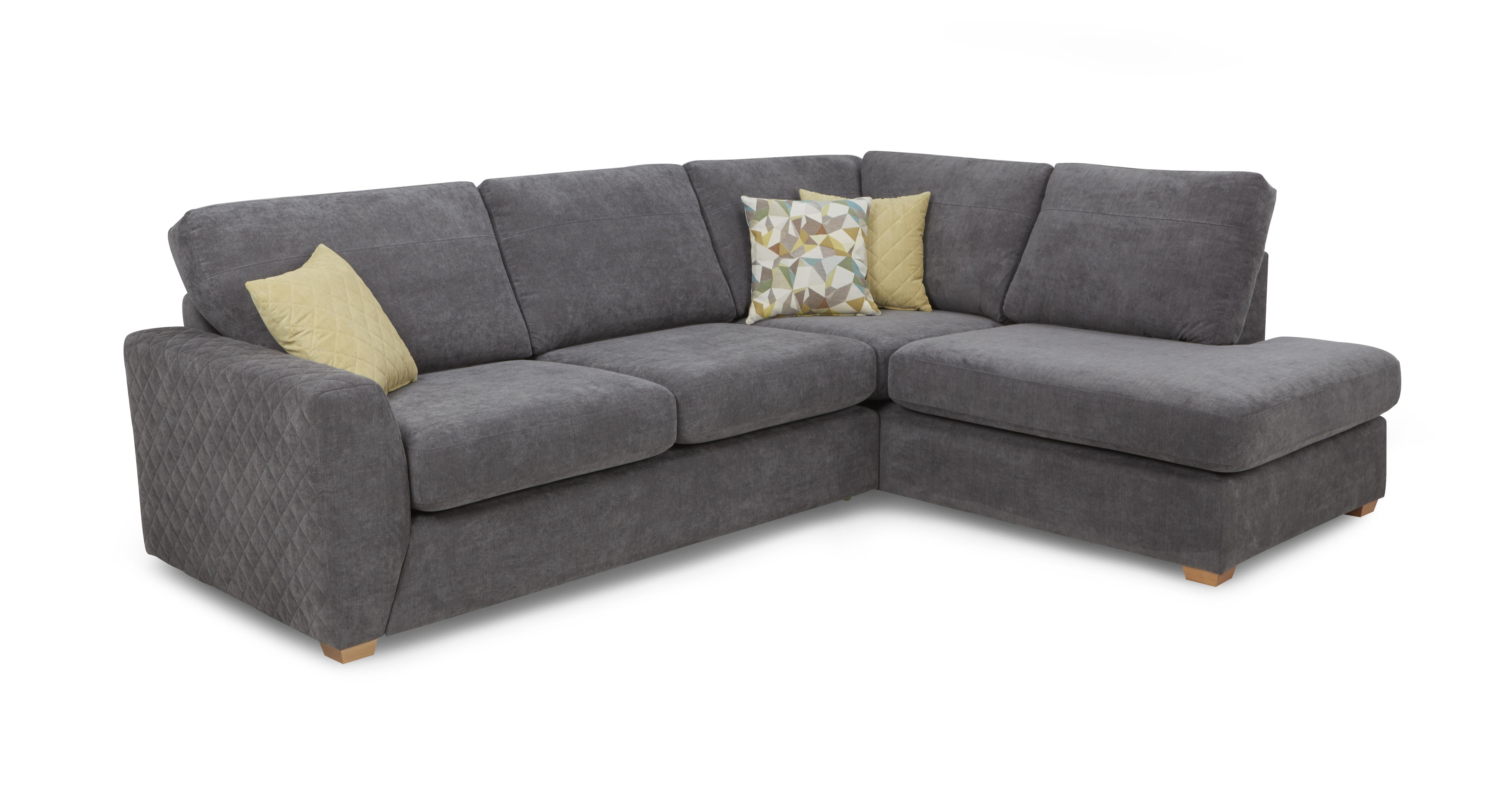 Astaire Clearance Left Arm Facing Open End Corner Sofa & Stool