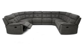 Atara Option N Manual 8 Piece U Shape Sofa