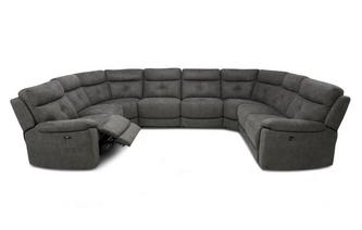 Option O Power 8 Piece U Shape Sofa