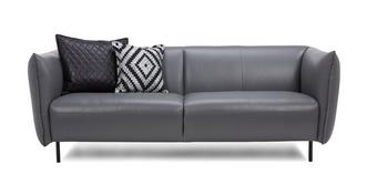 Athena Leather 3 Seater Sofa