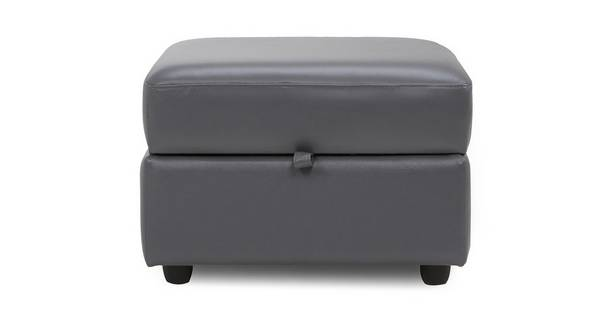 Athena Leather Storage Footstool