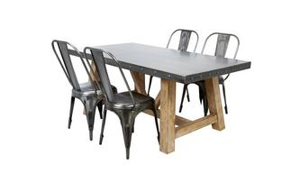 Fixed Top Table & Set of 4 Chairs Atom
