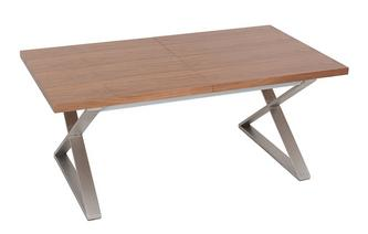 6-10 Seater Extending Dining Table Brushed Steel Leg