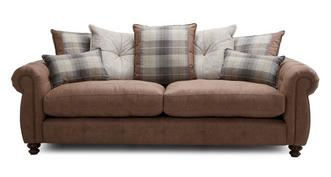 Augustus Pillow Back 4 Seater Sofa