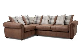 Pillow Back Right Hand Facing 3 Seater Corner Sofa Augustus