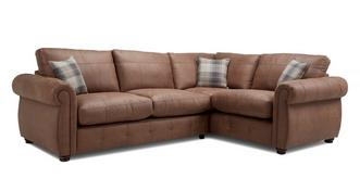 Augustus Formal Back Left Hand Facing 3 Seater Corner Sofa Bed