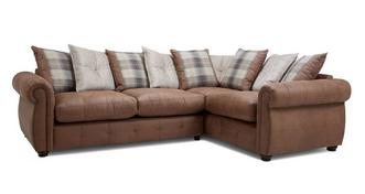 Augustus Pillow Back Left Hand Facing 3 Seater Corner Sofa Bed