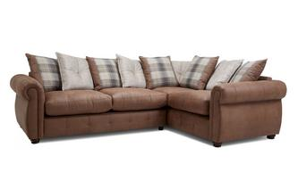 Pillow Back Left Hand Facing 3 Seater Corner Sofa Bed Augustus