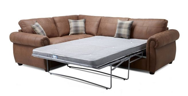 Augustus: Formal Back Right Hand Facing 3 Seater Deluxe Corner Sofa Bed