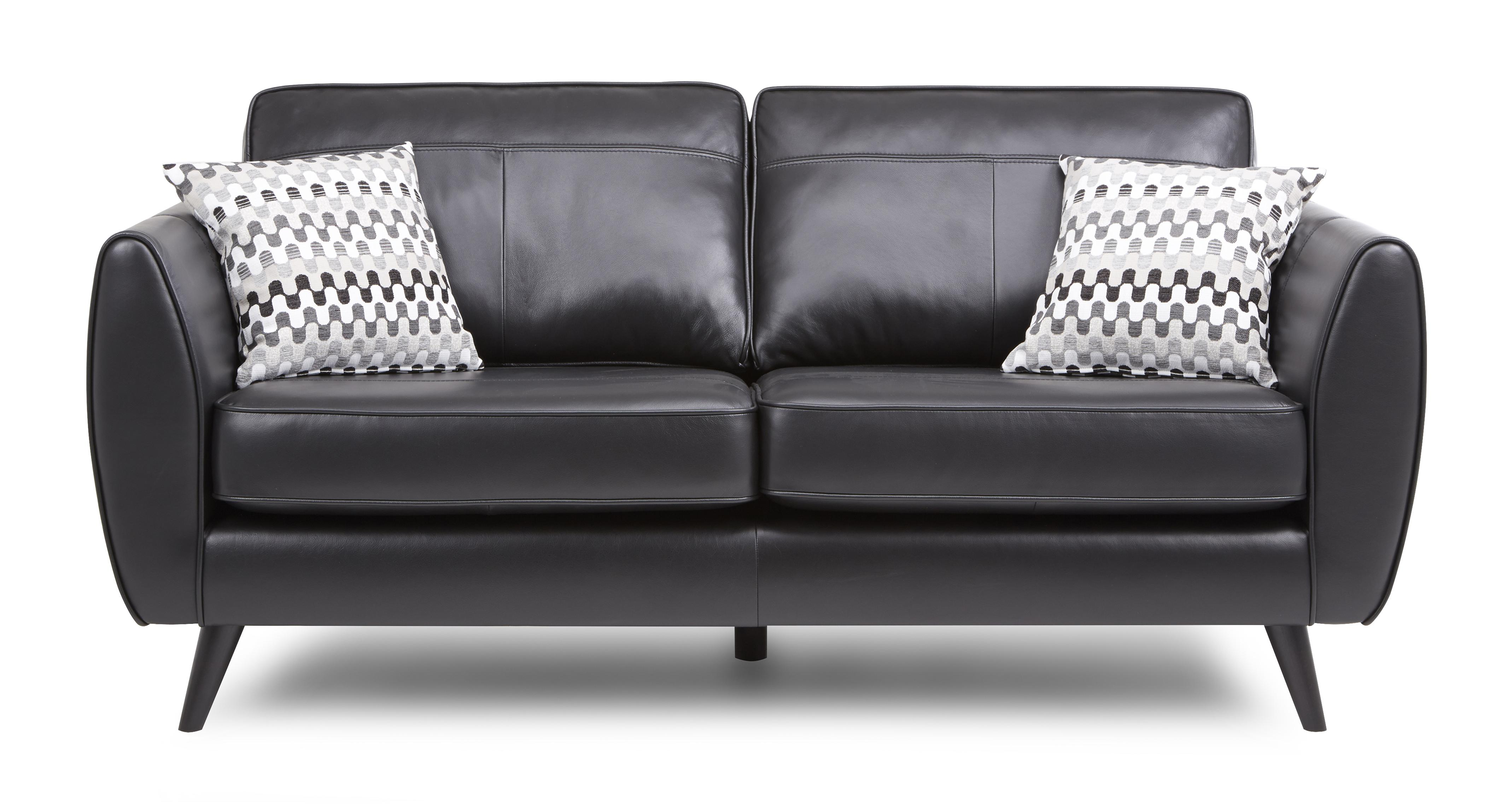 About The Aurora Leather 3 Seater Sofa