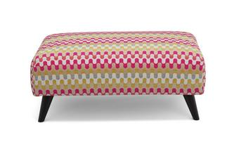 Aurora Pattern Banquette Footstool Revive Pattern