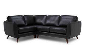 Leather Right Hand Facing Corner Sofa