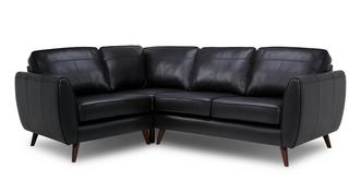 Aurora Leather Right Hand Facing Corner Sofa