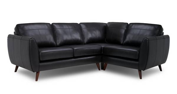 Aurora Leather Left Hand Facing Corner Sofa