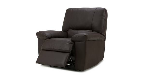 Avail Leather and Leather Look Manual Recliner Chair