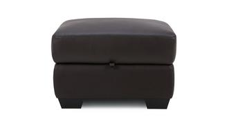 Avail Leather and Leather Look Storage Footstool