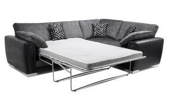 Formal Back Left Hand Facing Deluxe Corner Sofa Bed