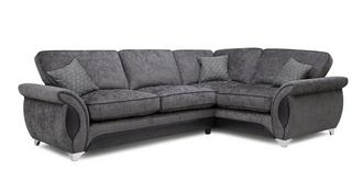 Avici Left Hand Facing 3 Seater Corner Formal Back Sofa