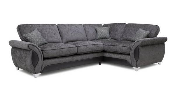 Avici Left Hand Facing 3 Seater Corner Formal Back Sofa