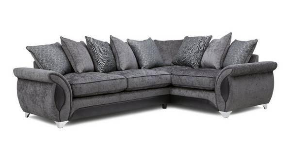 Avici Left Hand Facing 3 Seater Corner Pillow Back Sofa