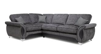 Avici Right Hand Facing 3 Seater Corner Formal Back Sofa